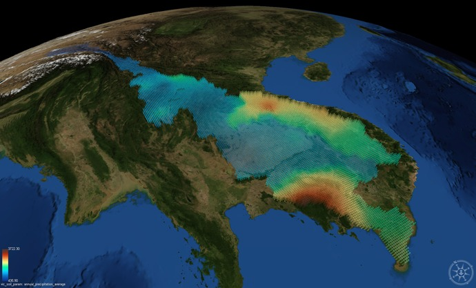 Mekong Basin Annual Precipitation